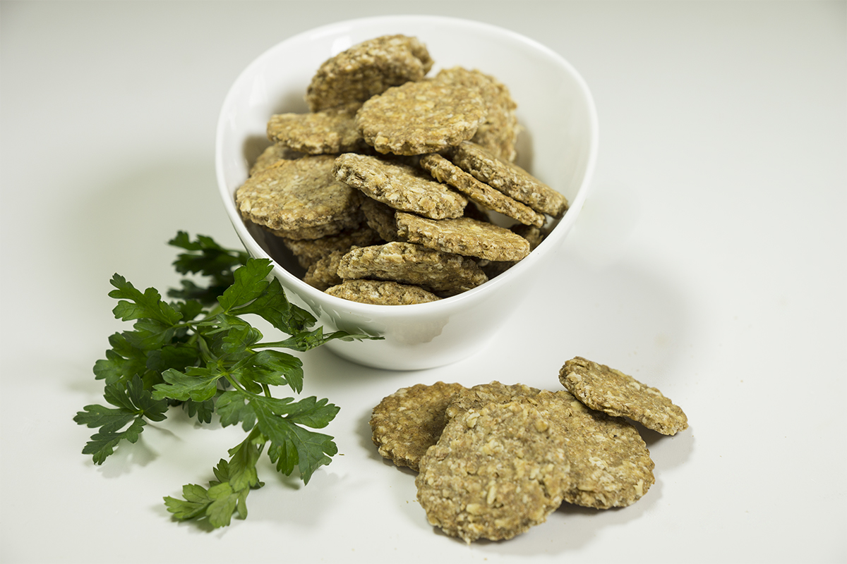 sardine oat cake dog treats