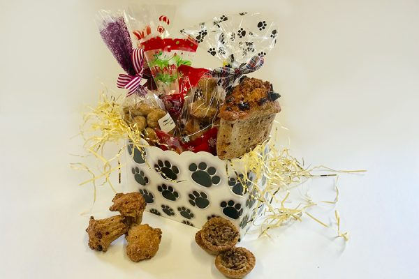 Christmas Hamper filled with a delicious selection of treats.